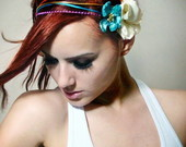 Headbands/ tiaras com flores e laos