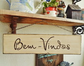 Placas de boas-vindas/Welcome