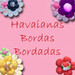 havaiana com as bordas bordadas