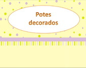 Potes decorados