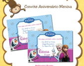 Convites aniversrio menina
