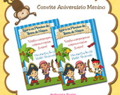 Convites aniversrio menino