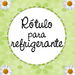 Rtulo para refrigerante