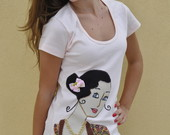 Camisetas - Srie Dama Antiga