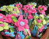 Sach� Flor - tecido de chita (ESGOTADO)