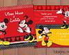 convite de anivers�rio Mickey e Minnie