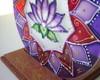 Lumin�ria de Vela L�tus Violeta - 12cm