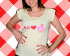 Camiseta Eu amo Cupcake