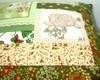 almofada patch/bordados - verde/beige