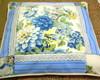 almofada flores azuis