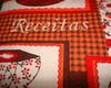 Caderno de Receitas capa em patchwork