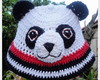 Chap�uzinho de barbante urso Panda