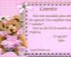 Festa ursa bailarina marrom e rosa