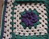 Tapete de Croch� - Flor Roxa