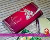 Chocolates com mensagens natalinas
