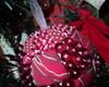 Bolas de Natal em Patchwork e lantejoula