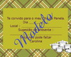Convite ch� de cozinha com envelope