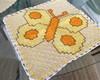 Caminho de mesa bordado em Xadrez