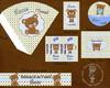 Kit digital Ursinho Azul e Marrom
