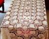 Toalha de croch� em linha fina para mesa