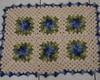 Tapete com Flores Cata-vento Azul