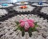 Tapete de Barbante com flores