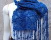 Xale Renda Azul Royal por encomenda