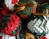 Bola de Natal Alcachofra em patchwork