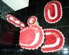Jogo de banheiro vermelho