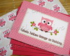 Cart�o Personalizado - Coruja Pink