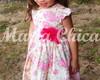 Vestido Infantil Flor Rosa