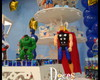Decora��o clean princesas e super herois