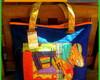 Bolsas de lona com patchwork