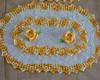 jogo de tapete de croch� com flor