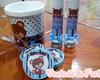 Kit de Festa - Urso Marrom e Azul