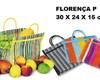 sacola de feira para festa infantil mini