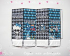 Caixa milk MONSTER HIGH AZUL tam G