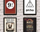Kit de Posters com Moldura Harry Potter