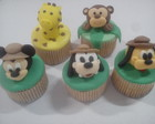 "Cupcake ""Mickey Safari"""