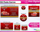 Kit Festa Carros Disney