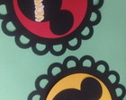 Aplique de escalope decorado Mickey Suqu