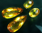 4 Citrinos naturais 22.5ct gotas oval