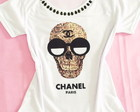 T-shirt Chanel Caveira Customizada