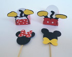 Kit Minnie e Mickey -Forminhas e Topper