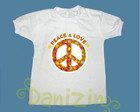 T-Shirt Beb e Infantil PEACE & LOVE