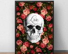 Quadro com Moldura - Skull and Love