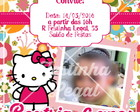 Convite virtual Hello Kitty com foto