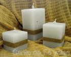 Kit de Velas Quadradas