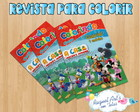 Revista de colorir casa do mickey