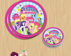 Etiqueta latinha My Little Pony